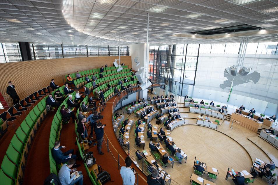 Statt im Landtag wird das Parlament am Donnerstag im Dresdner Kongresszentrum zusammenkommen.