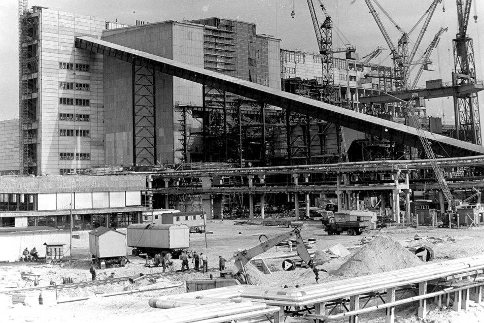 So sah das Kraftwerk als Baustelle aus.