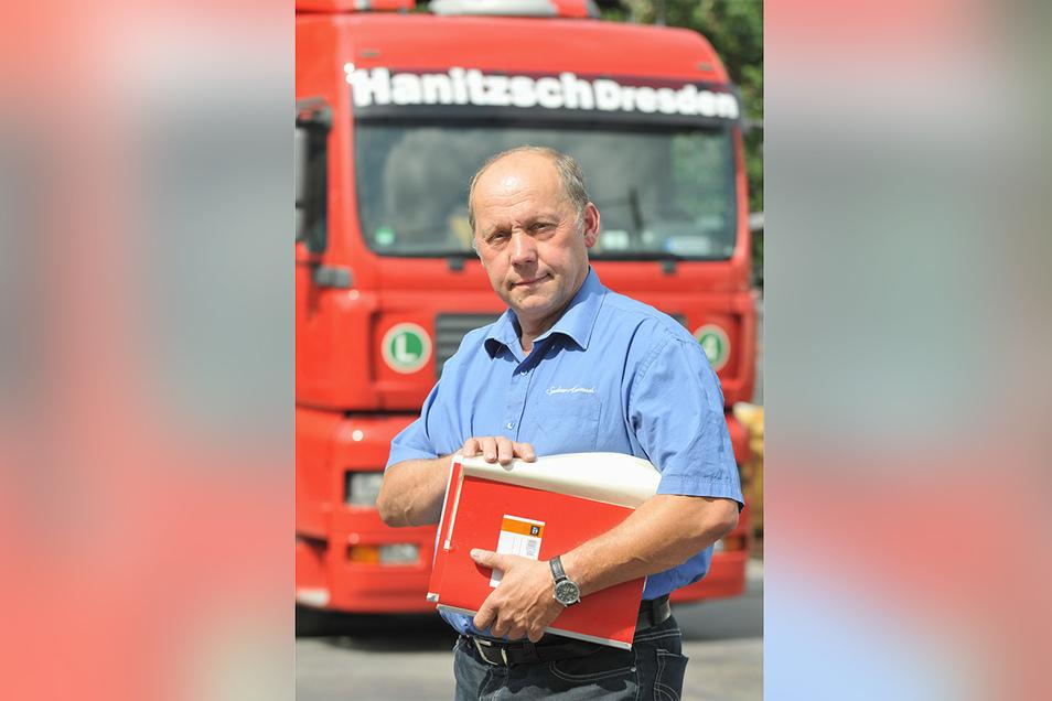 Wolfgang Hanitzsch - hier ein Foto von 2008 - leitete die Spedition von 1992 bis 2018.