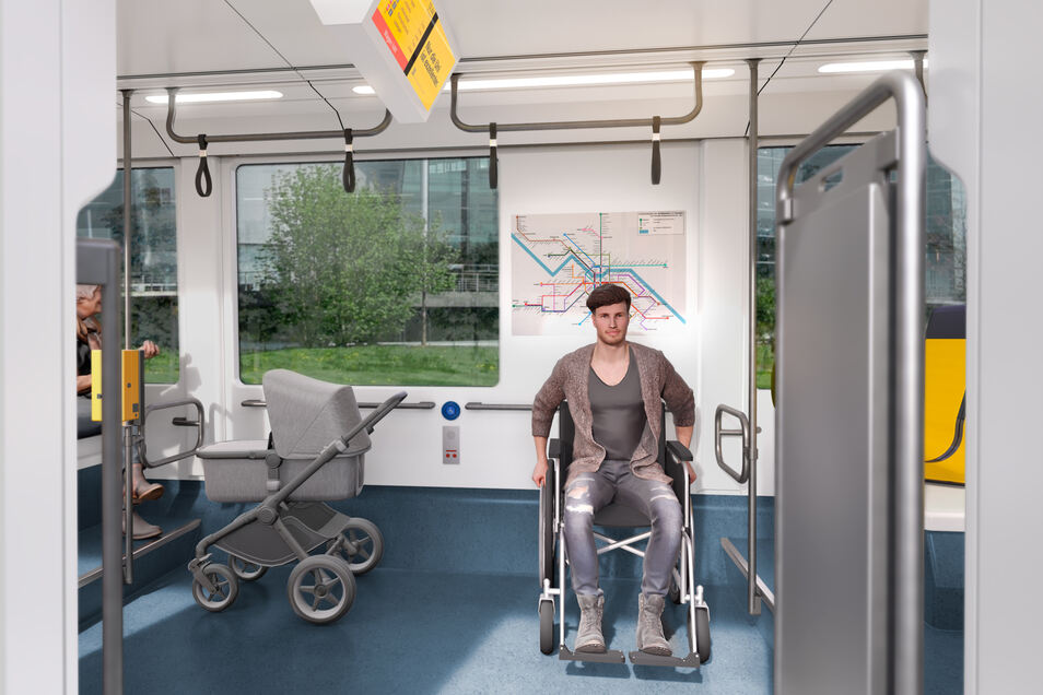 Bei den Einstiegen bleibt viel Platz für Rollstuhlfahrer und Kinderwägen.
