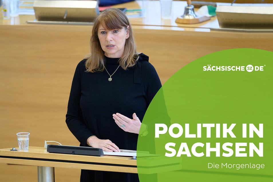 Sachsens Gesundheitsministerin Petra Köpping (SPD) in einer Aussprache zur Corona-Pandemie.