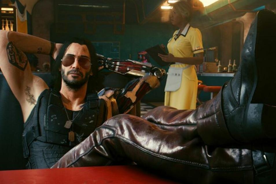 Ein Hollywood-Star steigert die Verkaufszahlen: Keanu Reeves fühlt sich wohl mit seinem künstlichen Arm.