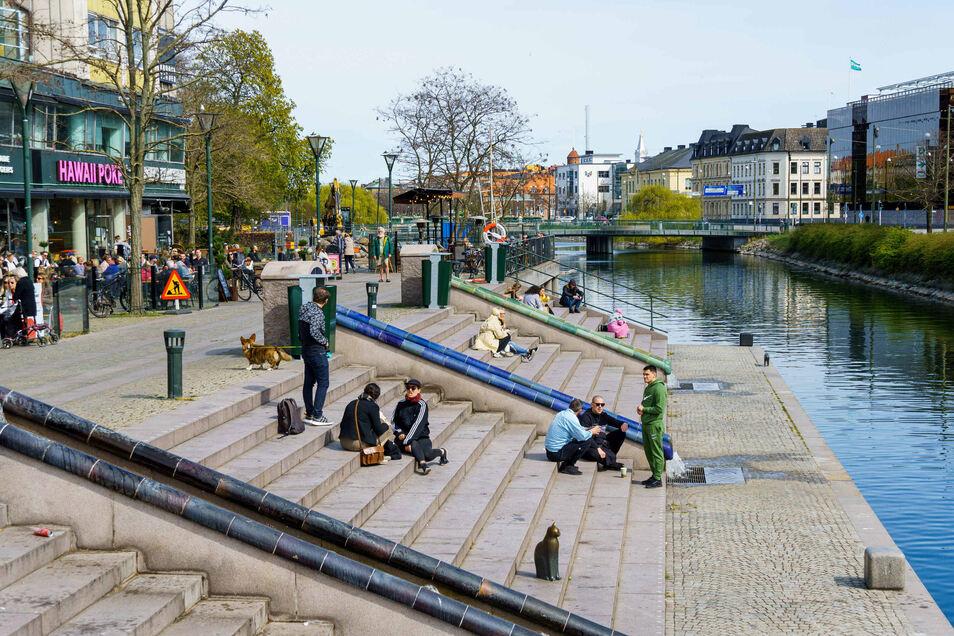 Menschen in Malmö.