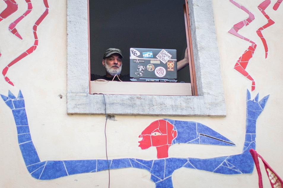 In der Kunsthofpassage sorgte DJ Olaf für Musik.