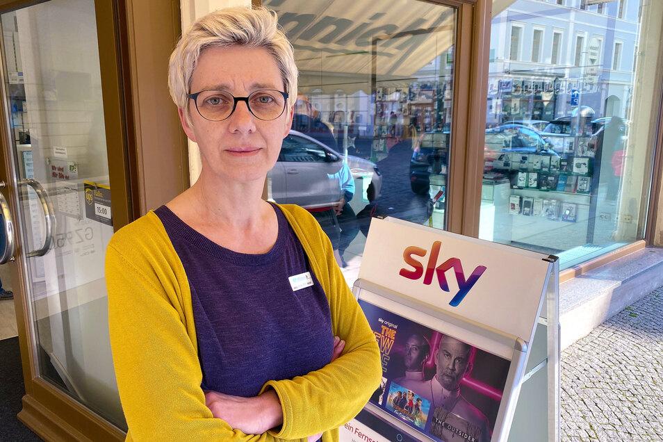 Susanne Münnich bietet ihren Kunden weiterhin technischen Service an. Ihren Elektornik-Laden in Löbau muss sie aber schließen.