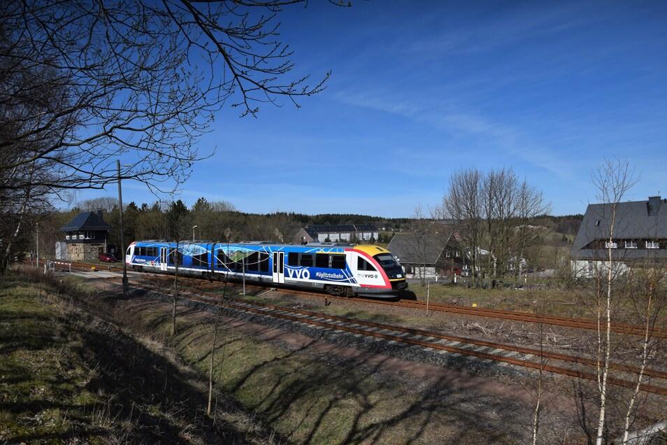 Die Müglitztalbahn bei Altenberg.
