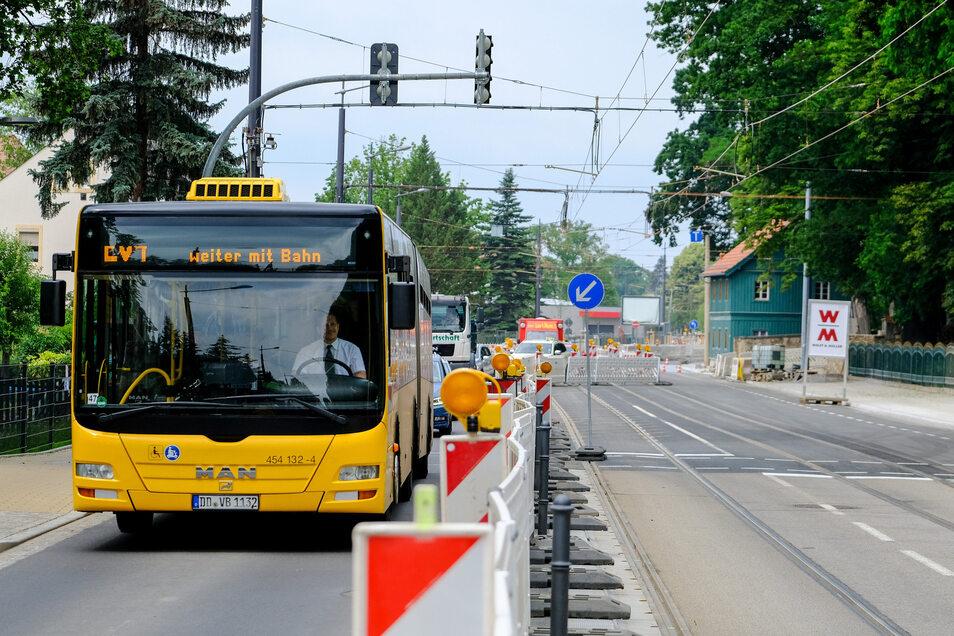 Die Tage des Ersatzverkehrs sind gezählt. Ab Montag rollen die Trams deutlich schneller auf der Strecke.