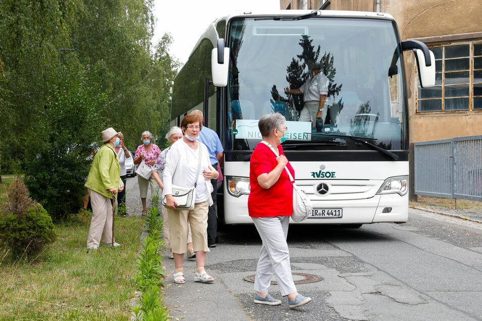 In Löbau besuchte die Senioren-Gruppe unter anderem das Haus Schminke.