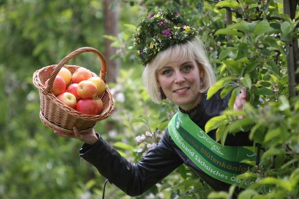 Äpfel gibt es auch dieses wieder in Borthen, eine Blütenkönigin aber wird nicht gekrönt. Antje Uhlig war 2019/20 die vorerst letzte, die bei einem Fest gekrönt werden konnte.