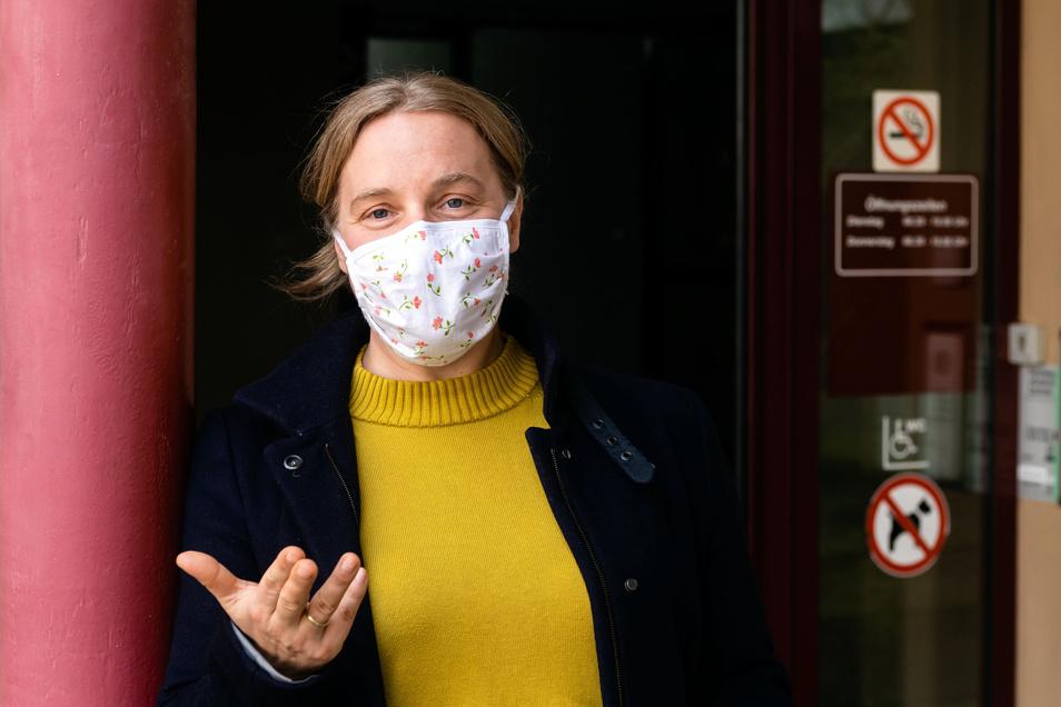 Jana Gärtner, Leiterin des Kreisgesundheitsamtes, rät dazu, Atemschutz-Masken zu tragen. Auch selbstgenähte einfache Modelle können helfen, sagt sie.