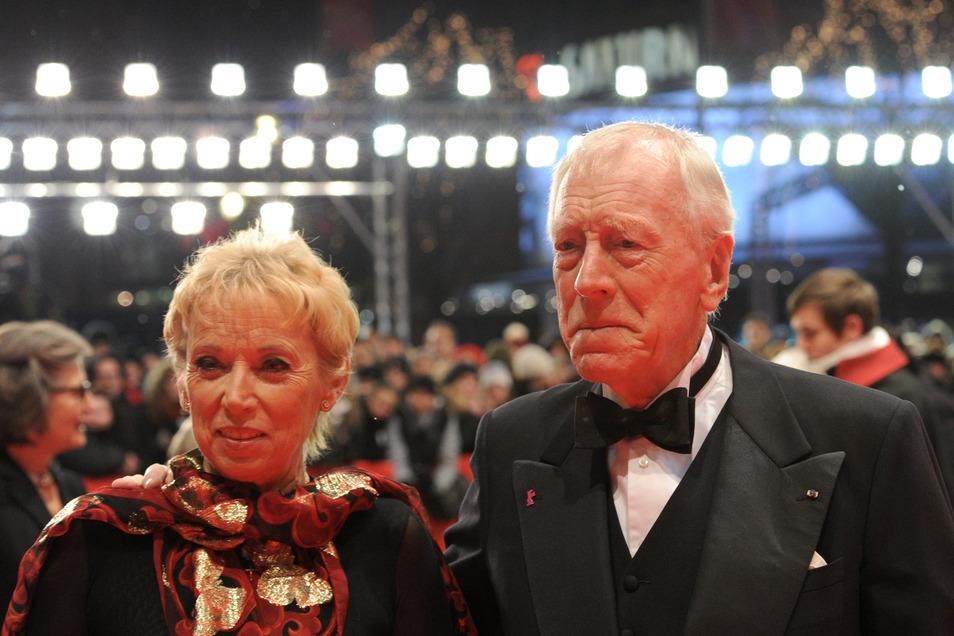Max von Sydow und seine Frau Catherine Brelet auf einer Aufnahme vom Jahr 2012.
