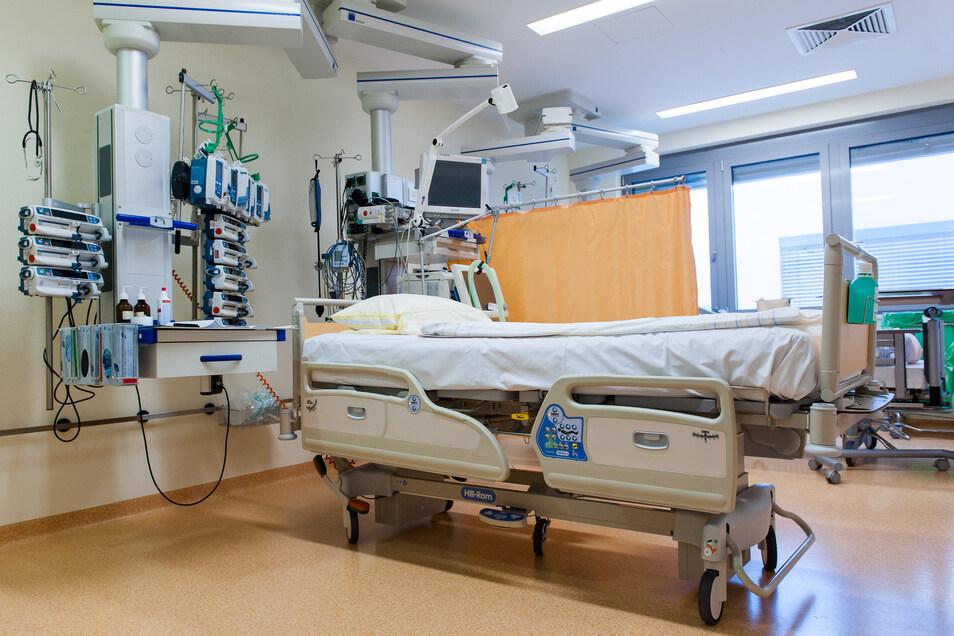 Intensivstation im Klinikum Pirna: auf den Ernstfall vorbereitet.