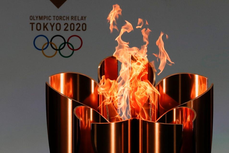 Der olympische Kessel in Japan. Hier sollten schon im Vorjahr die Spiele stattfinden - wurden wegen Corona auf 2021 verschoben. Sie waren der Anlass für den Vortrag im Großenhainer Museum zum Fackellauf von 1936.