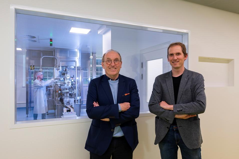 Wilhelm Zörgiebel (links) und sein Sohn Felix haben den Labortrakt bei Biotype vergrößert.