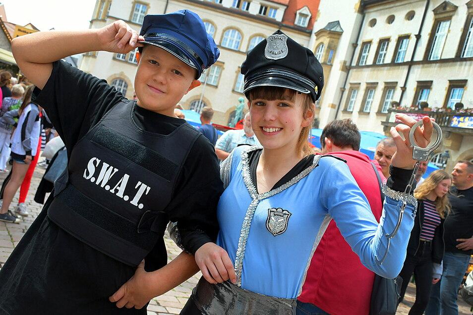 Mitglieder des WelWel Sport- und Tanzvereins beim Döbelner Stadtfest 2019.