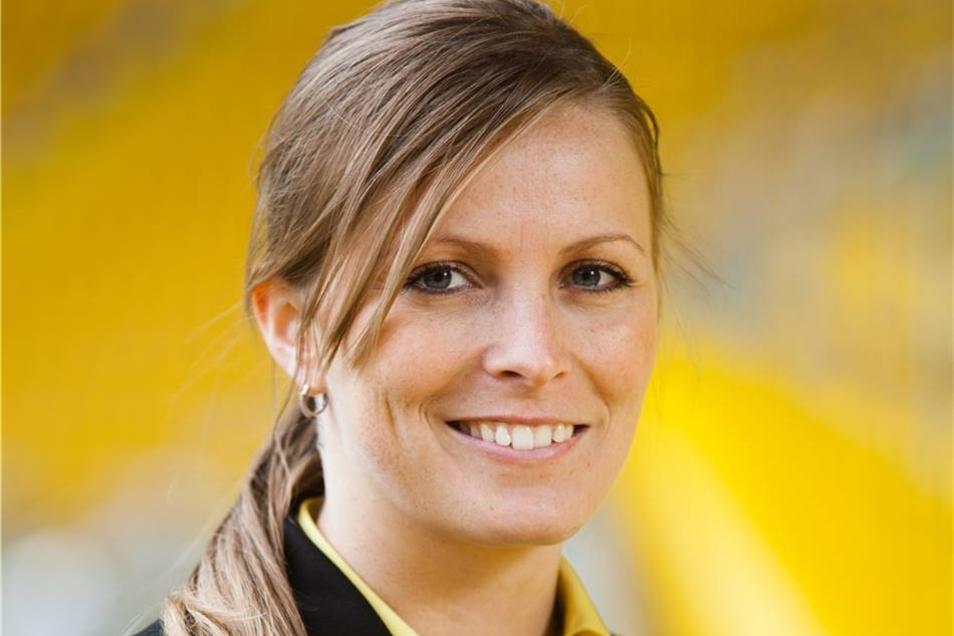 Clivia Fritzsche: Wir haben einen Traum – sagt die Marketingmitarbeiterin (seit 2012) und nennt damit zugleich Dynamos neues Leitmotiv, das in ihrer Abteilung entstanden ist.
