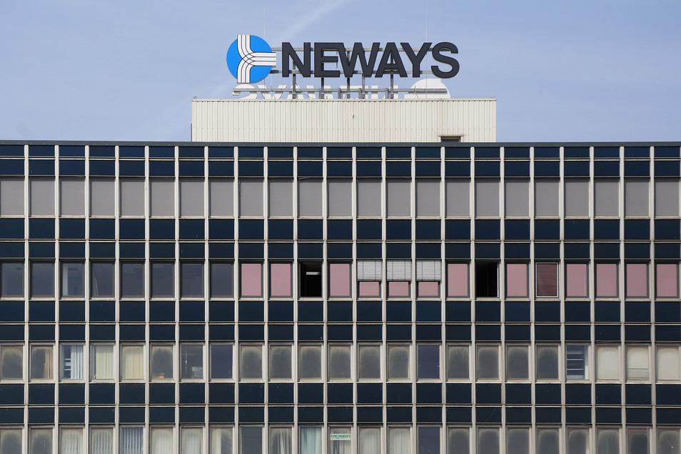 Blick auf das Neways-Gebäude in Riesa.