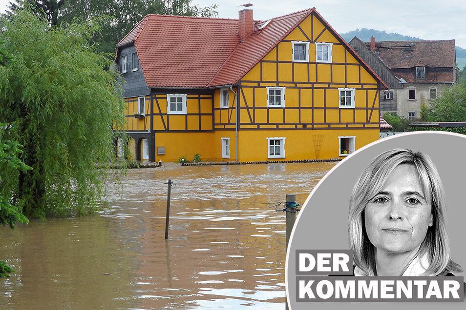 Am 7. August 2010 stand auch in Oderwitz das Landwasser meterhoch in den Häusern.
