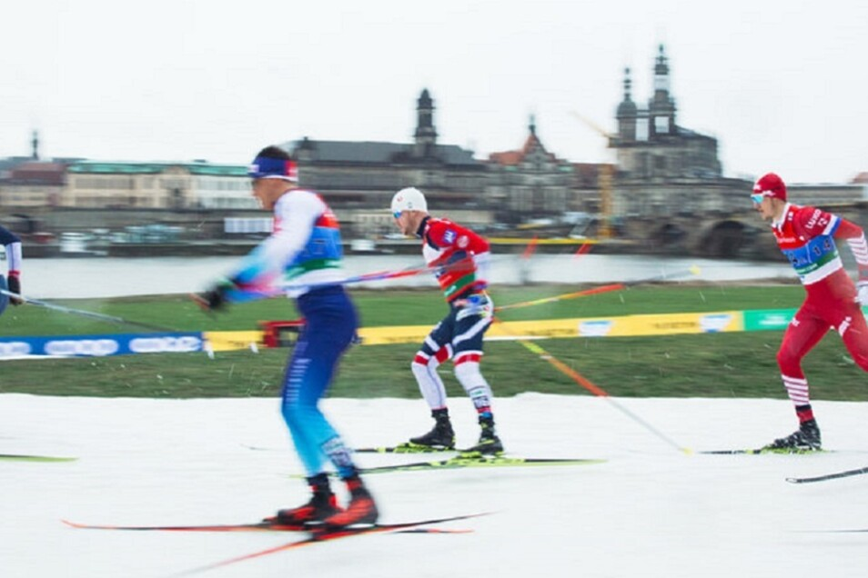 Am Elbufer sprinten die besten Skiläufer um Weltcup-Punkte.