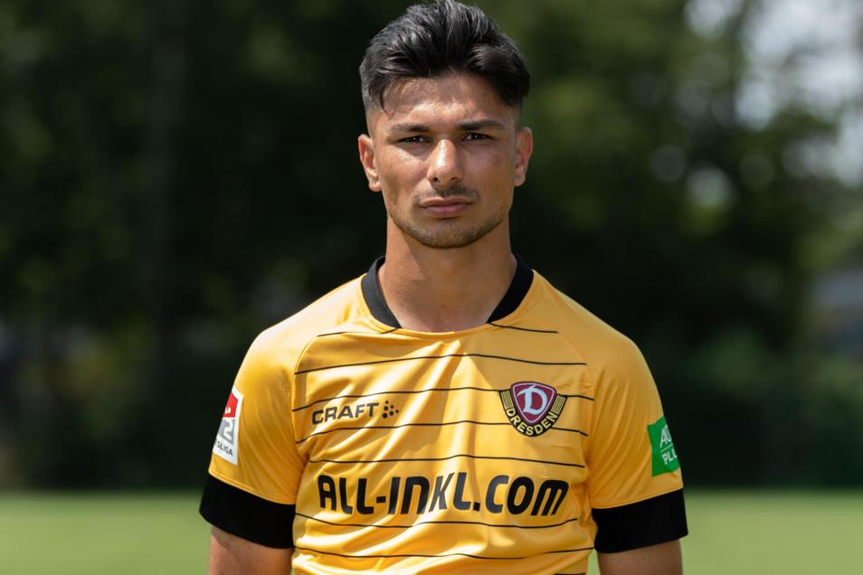 Das schwarz-gelbe Trikot ist Osman Atilgan noch etwas zu groß, zumindest bei Zweitliga-Einsätzen.