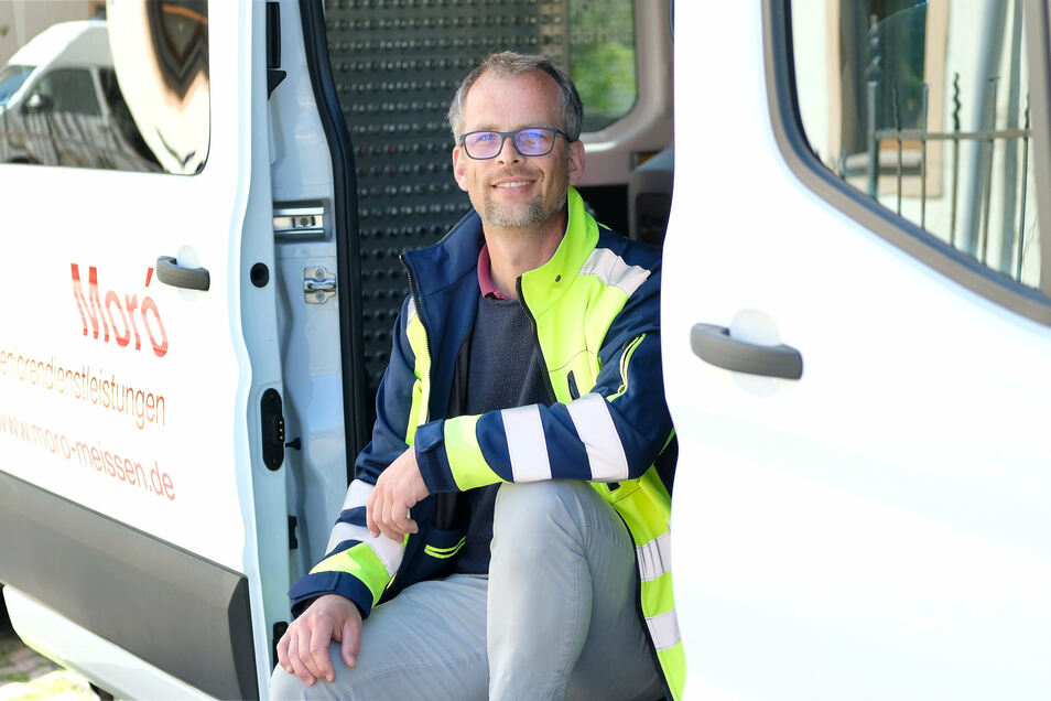 András Moró, Chef der Meißner Firma Seniorendienstleistung, hat derzeit bis zu 50 Prozent weniger an Auftragsvolumen für seine zehn Mitarbeiter.