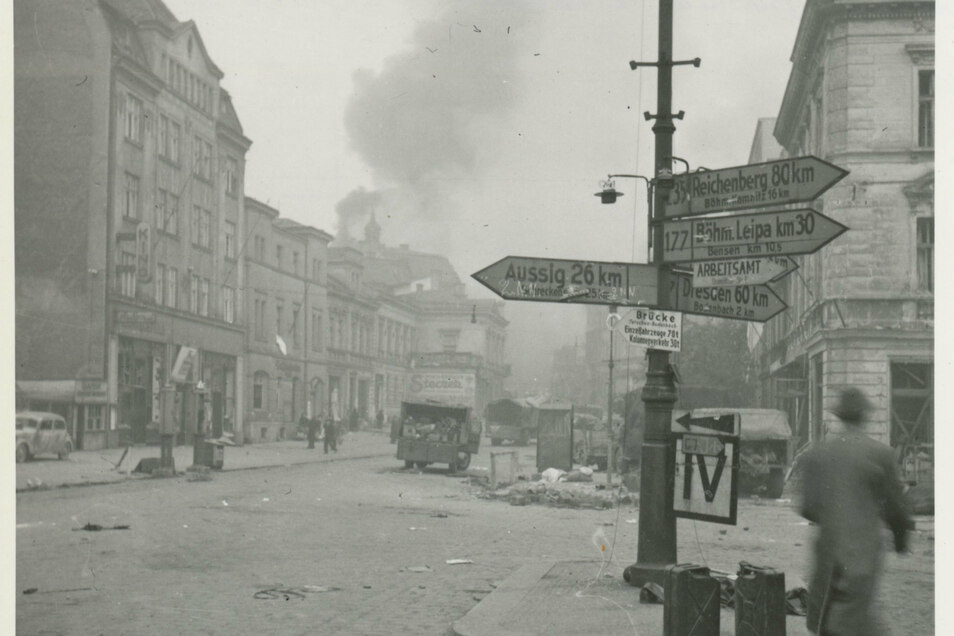 Noch am 8. Mai flog die Rote Armee Luftangriffe auf Decin.