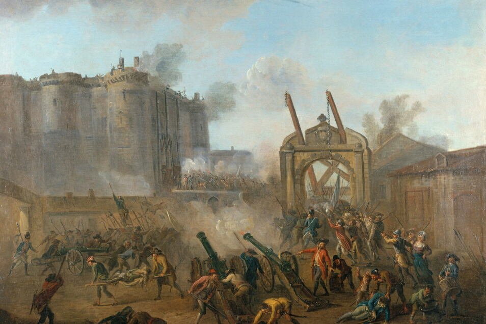 """Ein Sturm, der die Welt veränderte: """"Der Sturm auf die Bastille 1789"""" – von Jean-Baptiste Lallemand gemalt."""