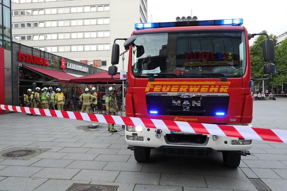 Im Istanbul-Imbiss stand am Montagnachmittag ein Holzkohlegrill in Flammen.