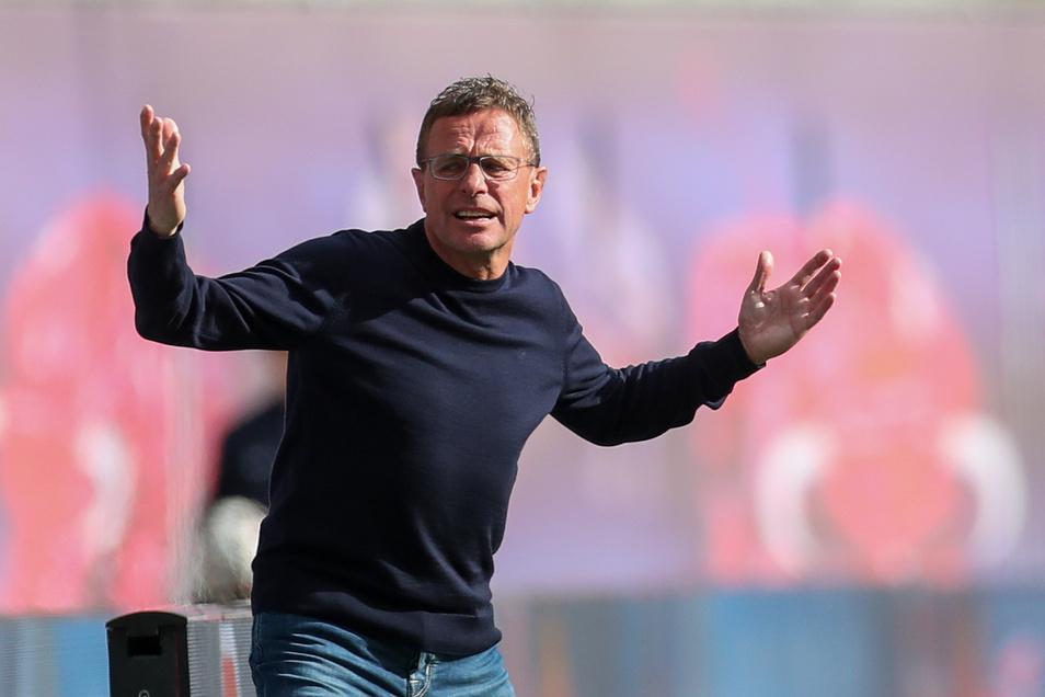 Leipzigs RB-Trainer und Sportdirektor Ralf Rangnick