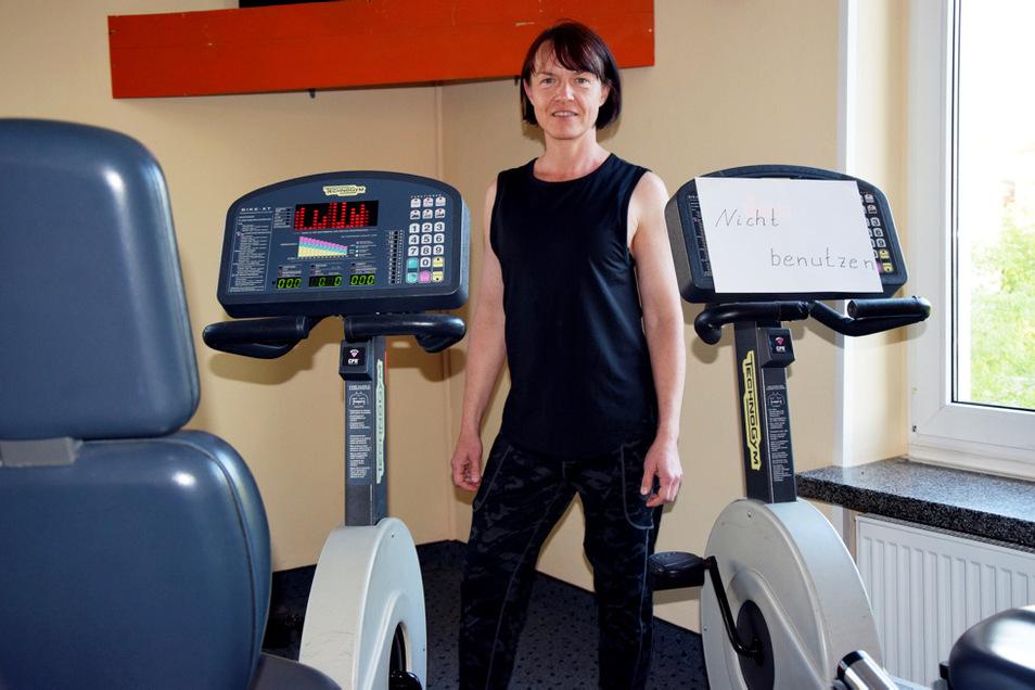 Kristina Pucha gibt auch Spinning-Kurse, aber es darf nur jedes zweite Bike benutzt werden.