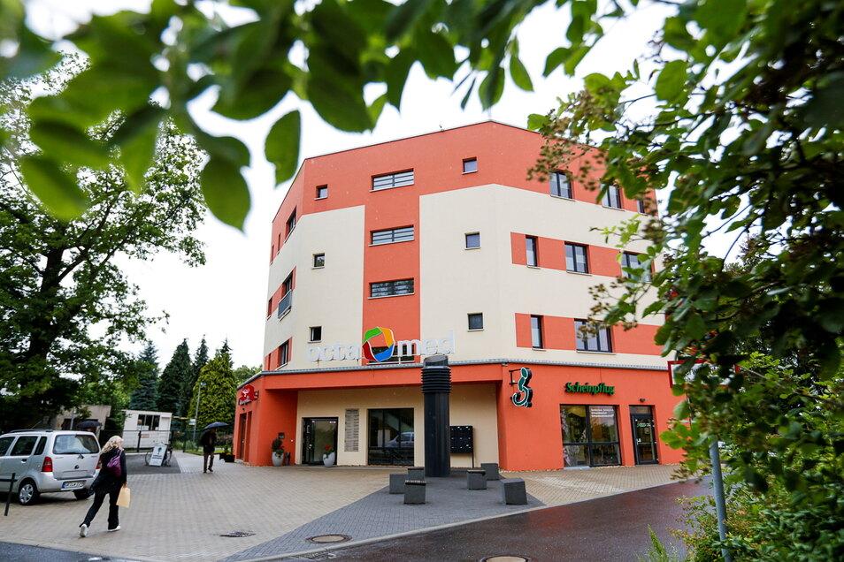 Das Octamed - ein Ärztehaus hinter dem Carolus-Krankenhaus, mit dem es enge Kooperationen gibt.