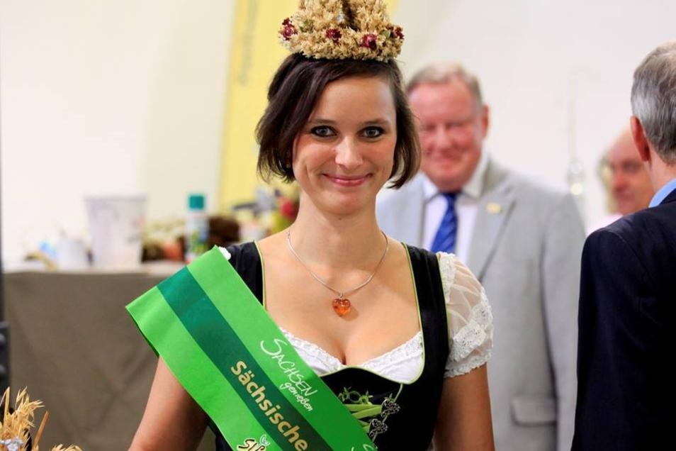 Erntekönigin Anja Werner.