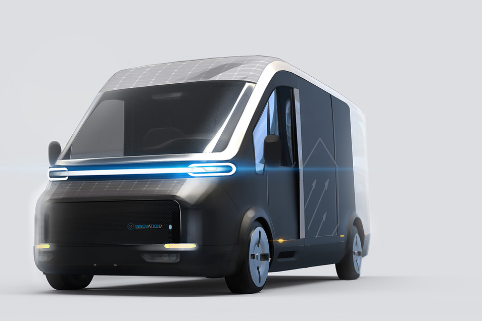 So sieht der Entwurf für den elektrisch angetriebenen Lieferwagen der Zgorzelecer Firma Innovation AG aus.