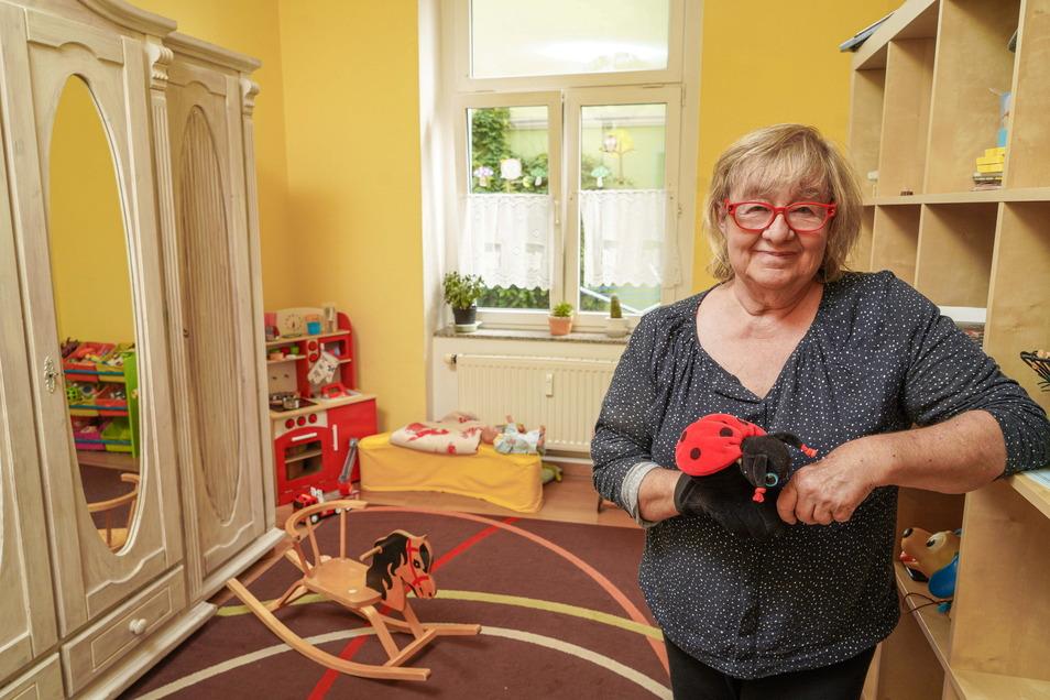"""Leonore Welz aus Bautzen hat sich als Gastgeberin bei der Initiative """"Mein Papa kommt"""" angemeldet. Bei ihr können getrennt lebende Eltern, die nicht in Bautzen wohnen, Zeit mit ihren Kindern verbringen."""