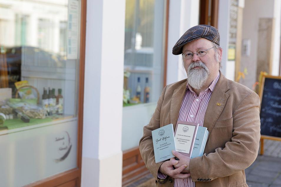 Michael Prochnow veröffentlichte Bücher mit Texten des Görlitzer Schuhmachers und Philosophen Jakob Böhme.
