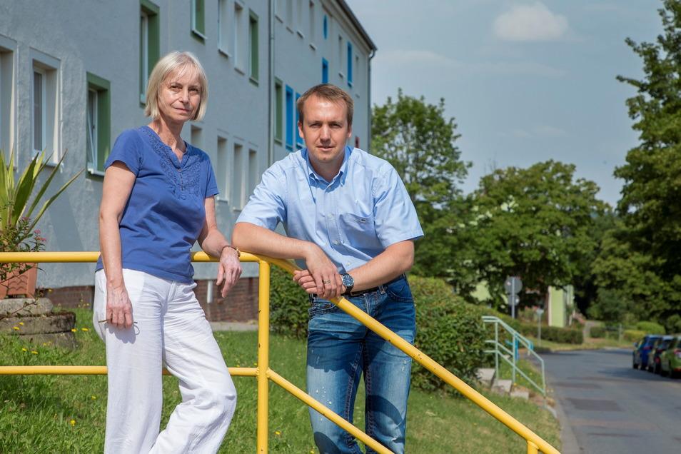 Jeanette Effenberg und Lutz Trept leiten die Geschäfte der Wohnungsgenossenschaft Raschelberg mit ihren rund 950 Mitgliedern.