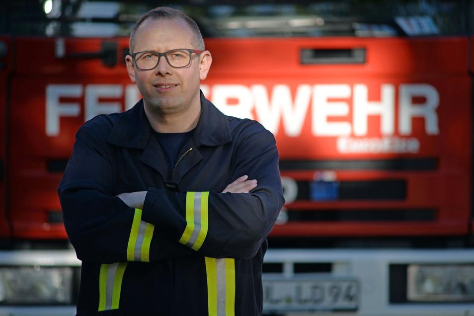 Rico Jurke ist der neu gewählte Stadtwehrleiter der Feuerwehr Niesky.