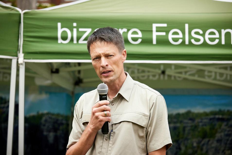 Nationalparkchef Ulf Zimmermann: Er hat die Leitung des Nationalparks Sächsische Schweiz im Sommer 2020 übernommen. Zuvor arbeitete er unter anderem in einem Naturpark in der Schweiz.