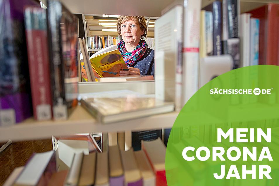 Viola Marzahn arbeitet seit 1999 in der Pirnaer Stadtbibliothek.