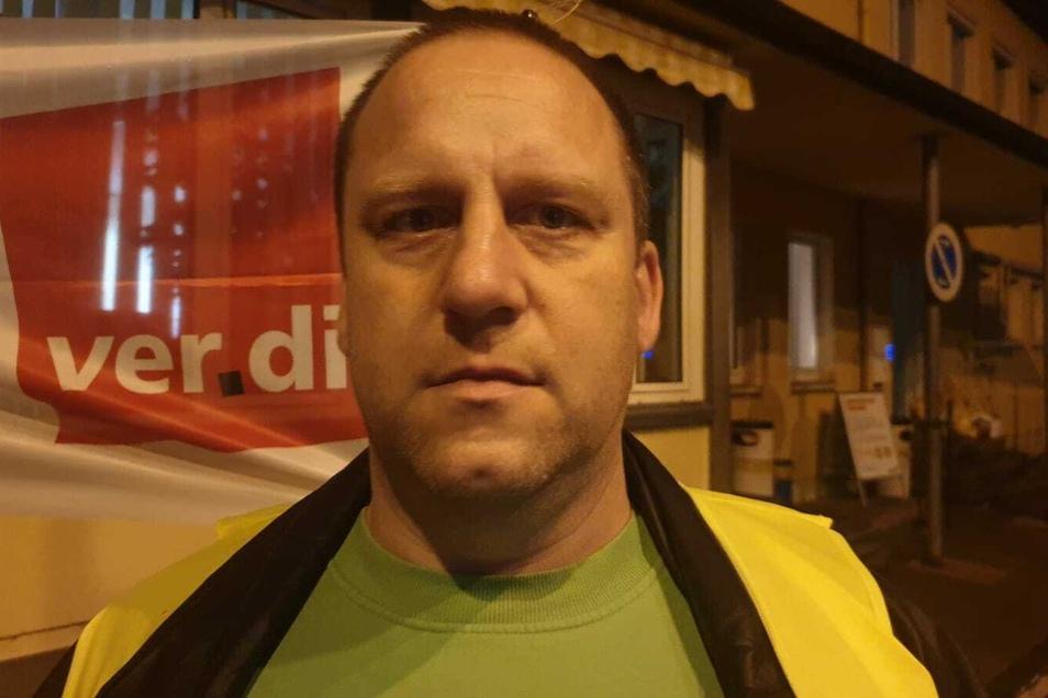 Der Streik soll nicht die Kunden treffen, sagt Straßenbahnfahrer Wolfgang Fehring, aber anders geht es nicht.