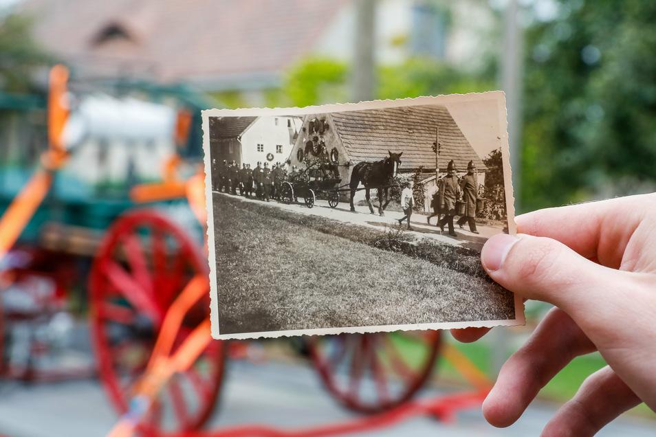 Auch früher war die Spritze eine große Attraktion auf jeglichen Dorffesten.