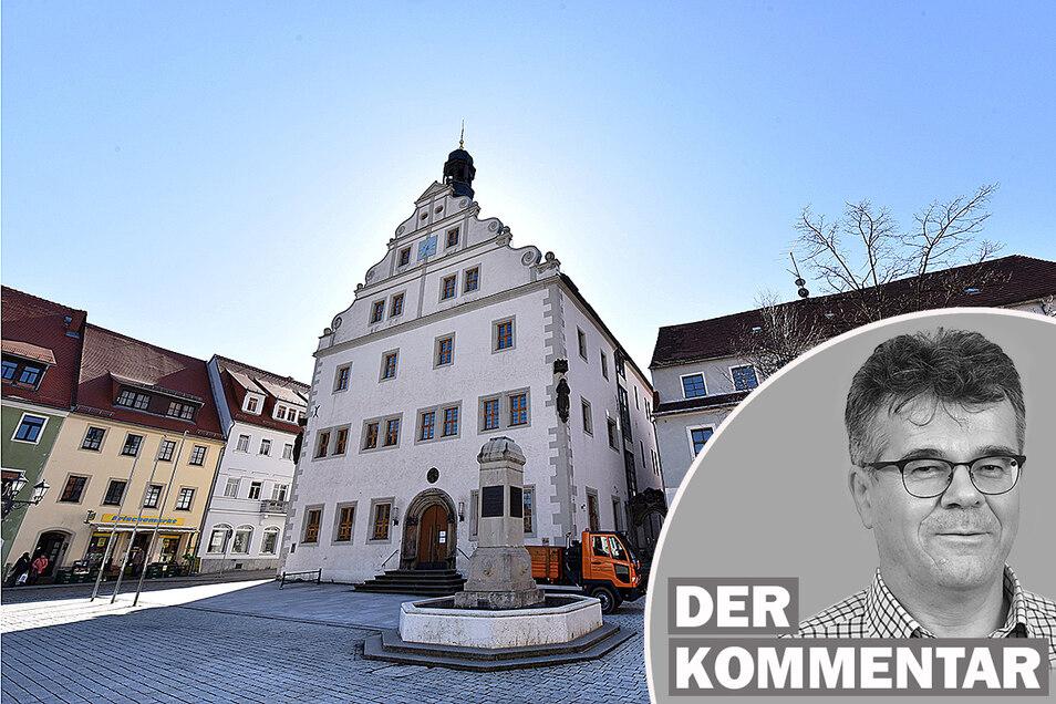 """Das Rathaus in Dippoldiswalde. """"Selbst die AfD hat bessere Drähte zu den anderen Parteien und auch zur Oberbürgermeisterin als die Freien Wähler."""""""