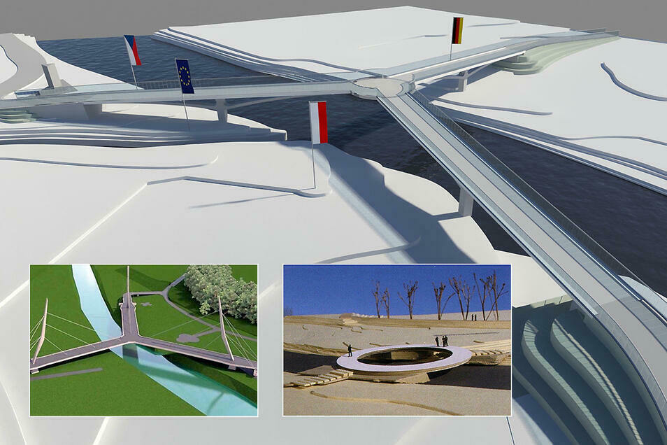 Das waren die Entwürfe der Dreiländer-Brücke zwischen 2004 und 2020.