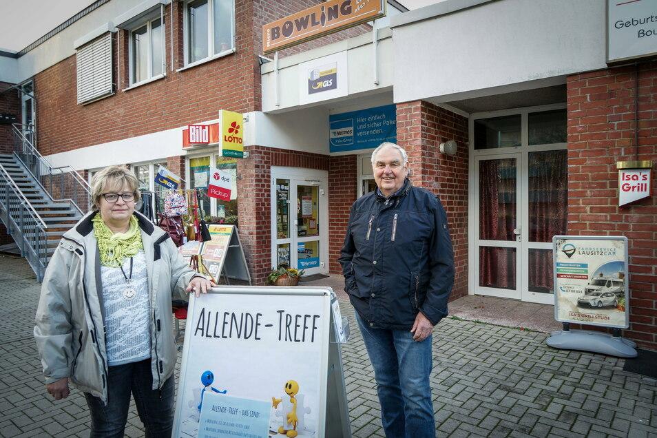 Andrea Kubank und Klaus Müller wollen die Menschen im Bautzener Allendeviertel zusammenbringen. Seit dem Sommer haben sie für ihren Treff auch einen Raum.