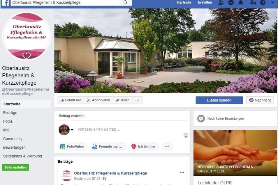 Die Facebook-Seite des Heims.