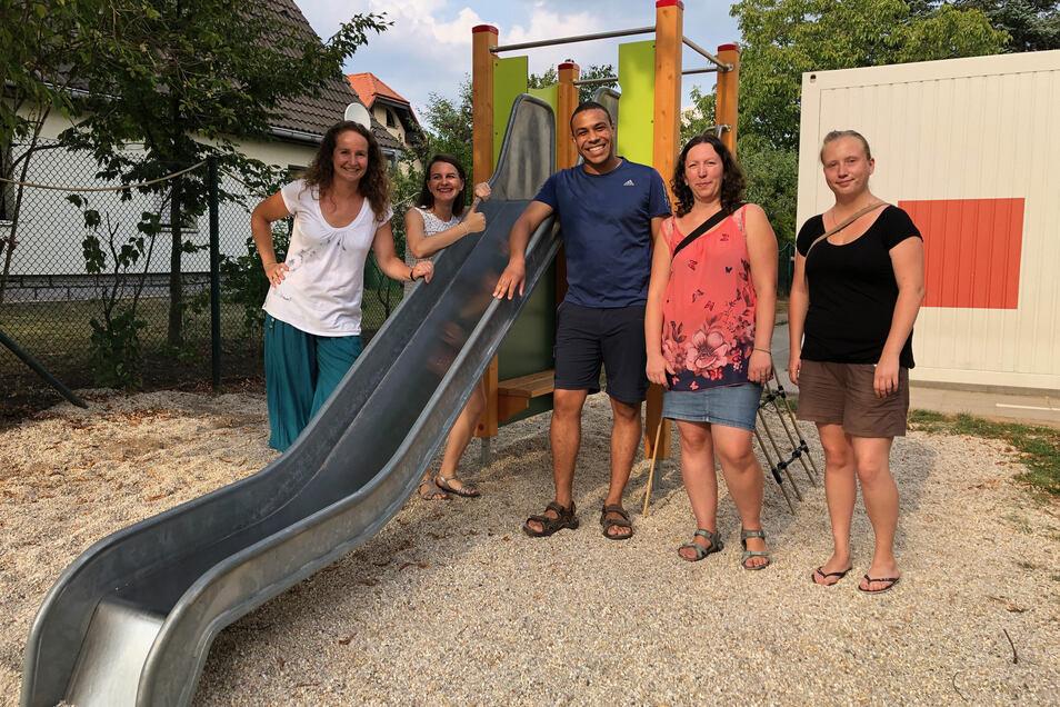 Das engagierte Elternrat-Team um Stefan Schumann im Kinderhaus Regenbogen in Königsbrück hat im letzten Jahr viel geschaffen.