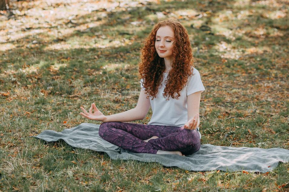 Yoga im Freien.