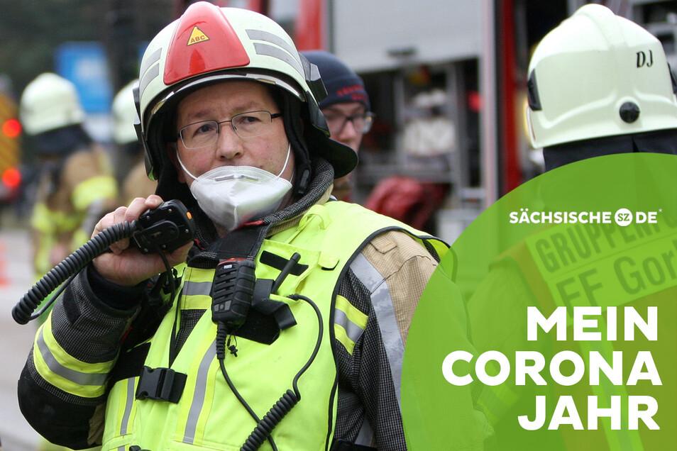 René Pelzer ist 365 Tage im Jahr Feuerwehrmann, an manchen Tagen sogar doppelt.