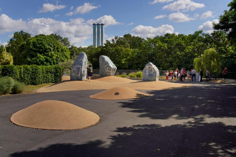 Zur Reihe der Erholungsflächen zwischen Tharandter Straße und Weißeritz gehört auch dieser Spielplatz.