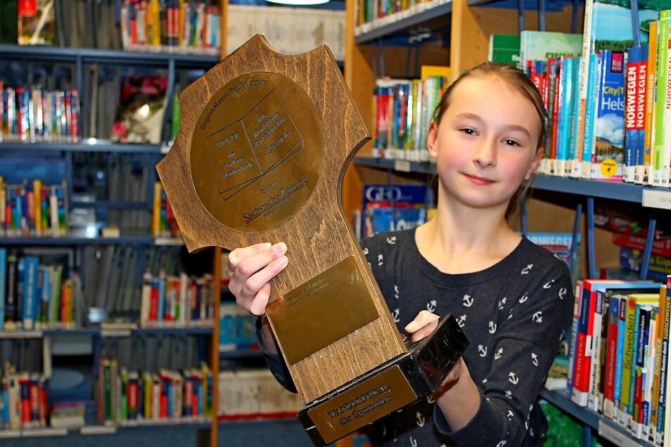 Vanessa Tietz ist die beste Vorleserin. Das Mädchen ist zum Sachsenausscheid delegiert worden.